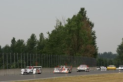 #1 Audi Sport North America Audi R10 TDI Power: Frank Biela, Emanuele Pirro, #37 Intersport Racing Lola B05/40 AER: Clint Field, Liz Halliday, Jon Field