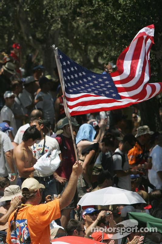 Fan mit Flagge: USA