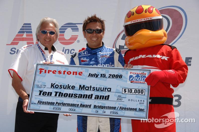 Le prix Firestone pour Kosuke Matsuura