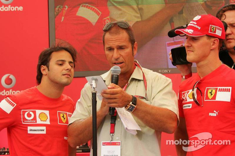 Evénement DJ de Vodafone Racing: Felipe Massa, Kai Ebel et Michael Schumacher