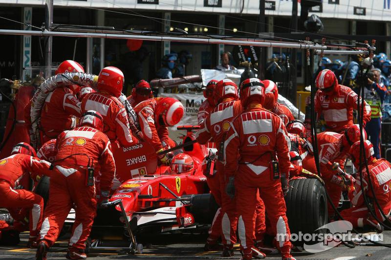 Boxenstopp von Michael Schumacher