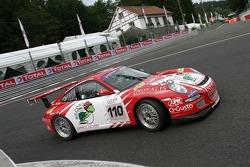 #110 Nicolas de Gastines Porsche 997 GT3 Cup: Philippe Haezebrouck, Nicolas de Gastines, Tom Cloet