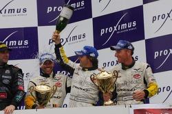 GT1 podium: third place Bert Longin, Anthony Kumpen, Mike Hezemans and Kurt Mollekens