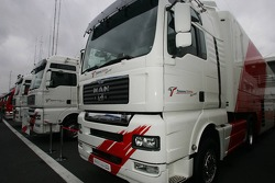 Toyota F1 Team transporters