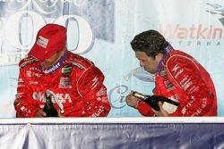 Podium: champagne for Scott Pruett and Luis Diaz