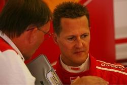 Michael Schumacher with Kees van de Grint