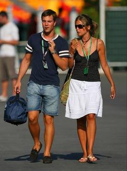 Giorgio Mondini with his girlfriend