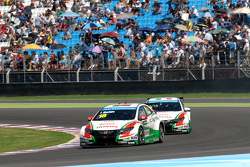 Tiago Monteiro,  Honda Racing Team JAS Honda Civic WTCC Gabriele Tarquini, Honda Racing Team JAS Honda Civic WTCC