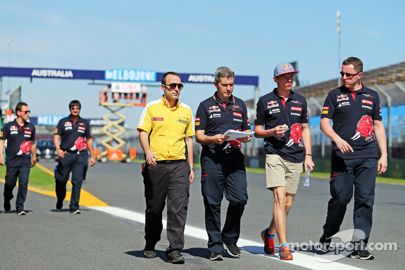 Max Verstappen, Scuderia Toro Rosso, beim Trackwalk