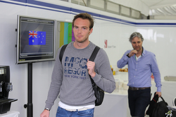 Giedo van der Garde, in the Sauber Motorhome
