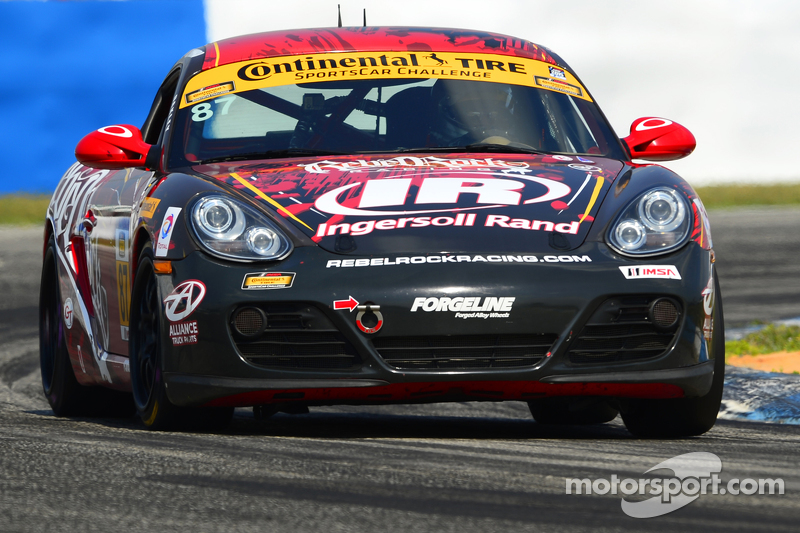 #87 Rebel Rock Racing Porsche Cayman: Ramin Abdolvahabi, Mark Pombo