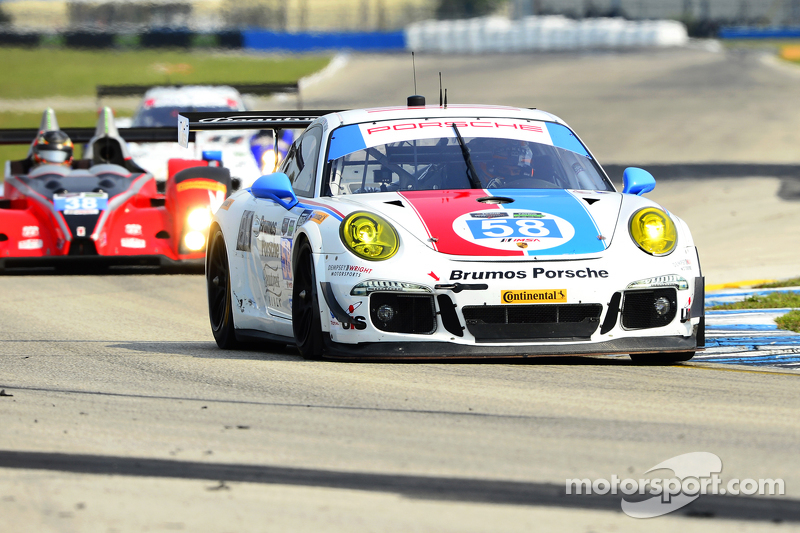 #58 Wright Motorsports,保时捷911,美洲GT赛: Madison Snow, Jan Heylen, Emilio Valverde