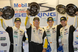 GTLM class winners Ryan Briscoe, Jan Magnussen, Antonio Garcia, Corvette Racing