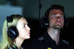 Carmen Jorda, Lotus F1 Team Development Driver and Jolyon Palmer, Lotus F1 Team Test and Reserve Driver