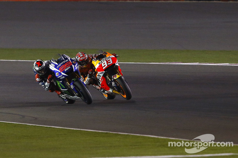 Jorge Lorenzo, Yamaha Factory Racing and Marc Marquez, Repsol Honda Team;