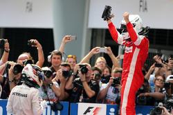 Sebastian Vettel, Scuderia Ferrari en Lewis Hamilton, Mercedes AMG F1 Team