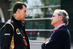 Federico Gastaldi, Lotus F1 Team Deputy Team Principal with Carlos Sainz (ESP)
