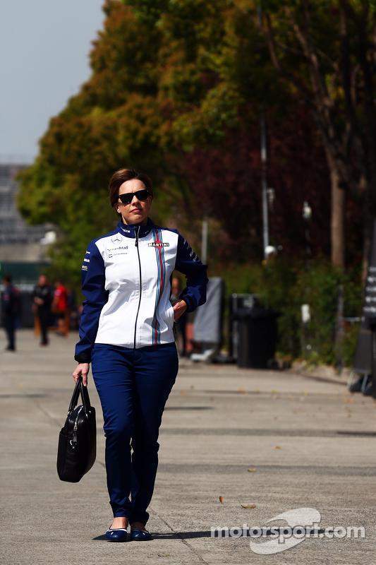 Claire Williams, Williams Deputy Director del equipo
