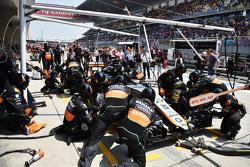 Sahara Force India F1 Team, beim Boxenstopp-Training