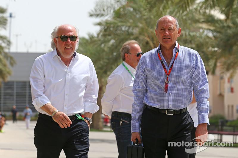 David Richards, CEO Prodrive dengan Ron Dennis, McLaren Executive Chairman