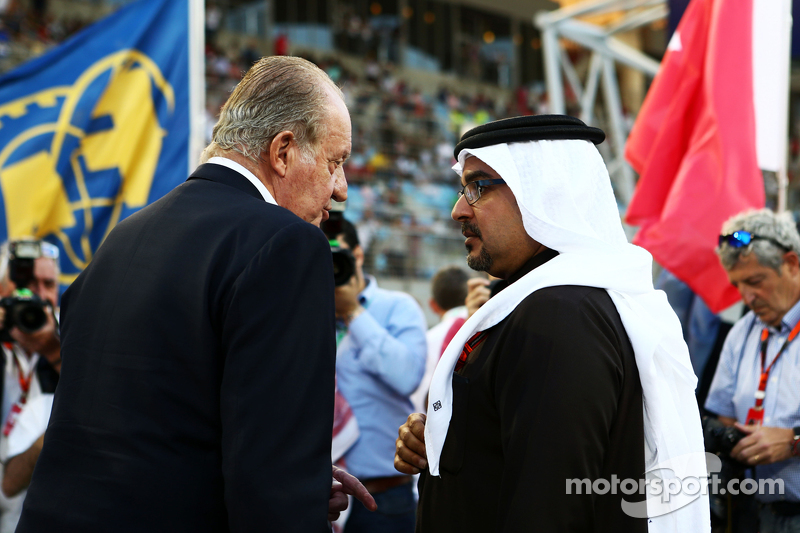 Former Spanish King Juan Carlos on the grid