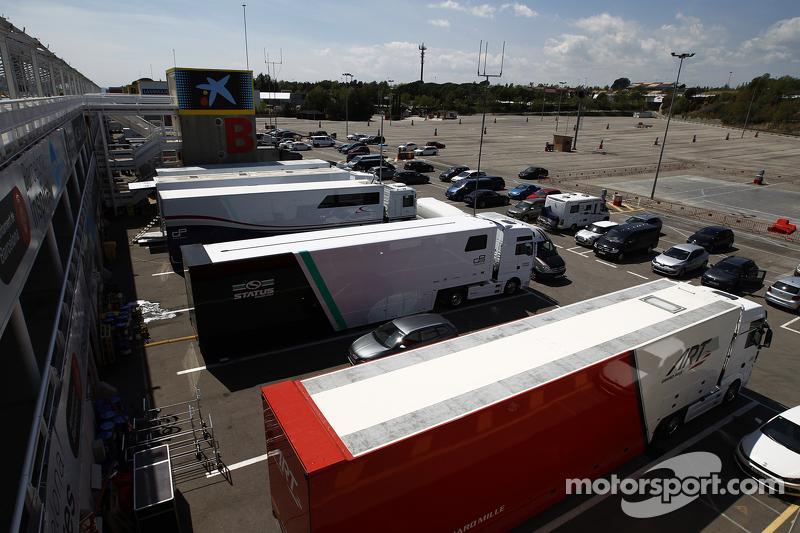 Das GP3-Fahrerlager