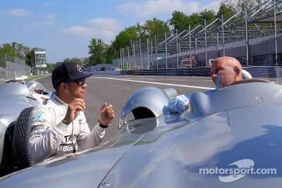 Mercedes filming day at Monza