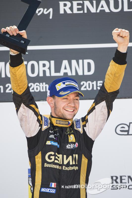 Le vainqueur Matthieu Vaxivière, Lotus