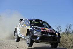 Andreas Mikkelsen und Ola Floene, Volkswagen Polo R Wrc, Volkswagen Motorsport