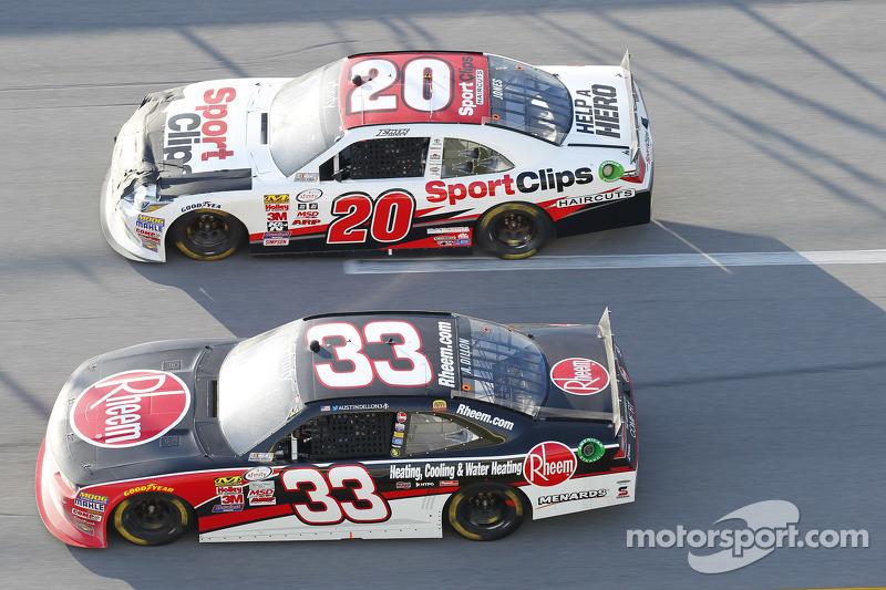 Austin Dillon, Richard Childress Racing, Chevrolet, und Erik Jones, Joe Gibbs Racing, Toyota