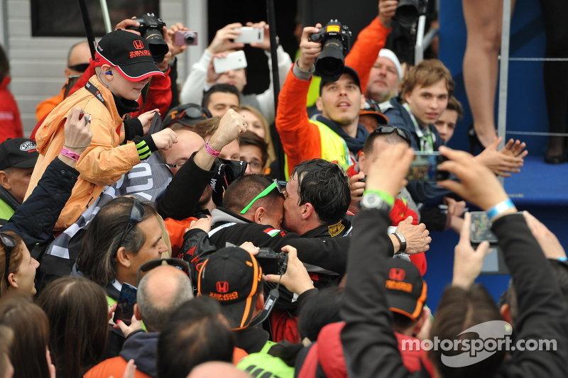 Il vincitore di gara 2 Norbert Michelisz, Honda Civic WTCC, Zengo Motorsport