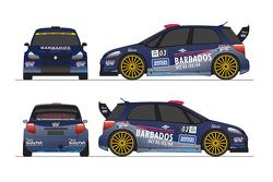 Ливрея Suzuki SX4 WRC Тони Гардемайстера. Ралли Барбадос 2015