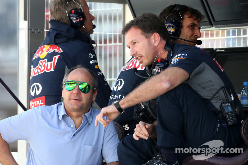 Christian Horner, Red Bull Racing, Sportdirektor, und Gerhard Berger