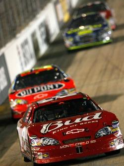 Dale Earnhardt Jr. leads Jeff Gordon