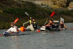 Хаос во время лодочного соревнования Audi на озере рядом с трассой Зандфорт