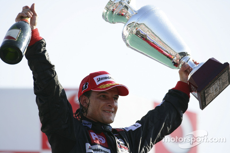 Podium: race winner Giorgio Pantano