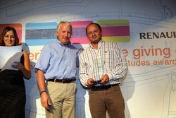 The Best Team Strategists award is collected by Frederick Vasseur of ART Grand Prix