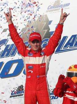 Wade Cunningham celebrates in Victory Lane