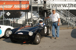 Ted Hershey and crew chief with his 1972 MG Midget