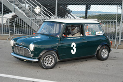 John Gorsline in his 1964 Morris Cooper-S