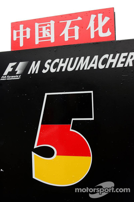 Placa de Michael Schumacher