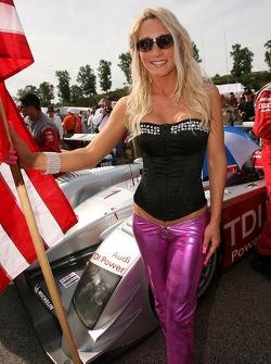 The spectacular Audi flag girl