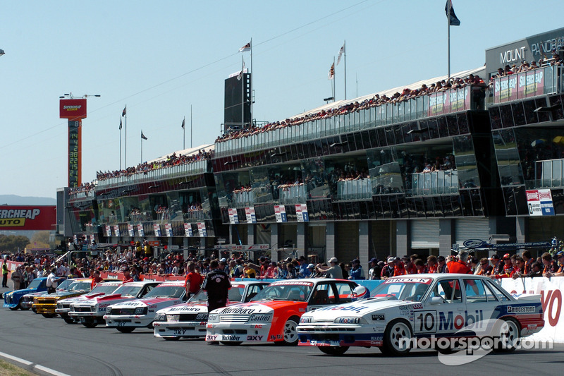 An incredible line-up of Brock cars