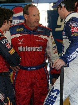 Jeff Gordon, Ken Schrader and Jimmie Johnson