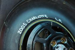 Trace sur un pneu Goodyear