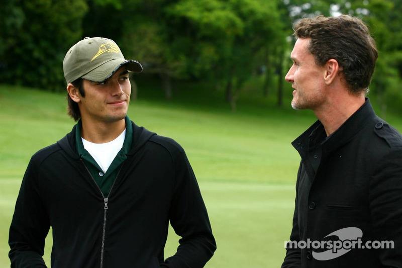 Tournoi de golf : Nelson A. Piquet et David Coulthard