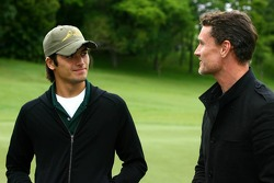 Golf tournament: Nelson A. Piquet and David Coulthard