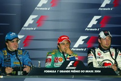 FIA press conference: 2006 F1 World Champion Fernando Alonso, race winner Felipe Massa and Jenson Button