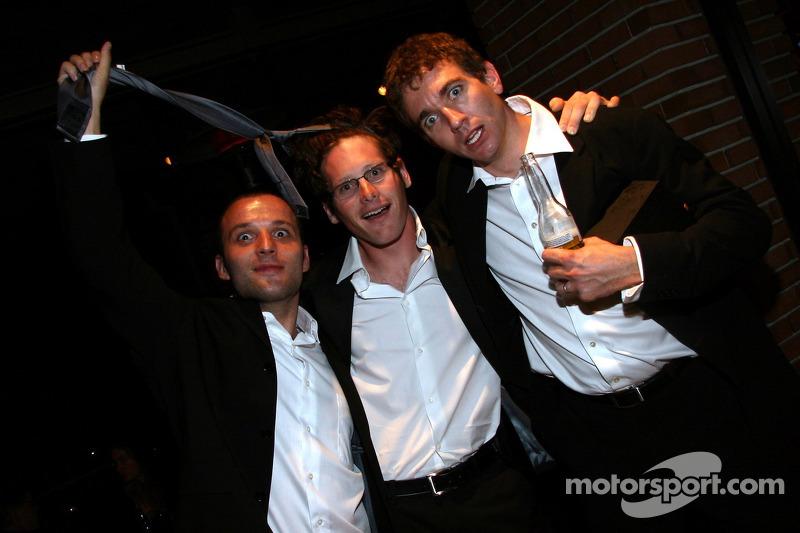 Darren Turner, Gunnar Jeannette et Oliver Gavin