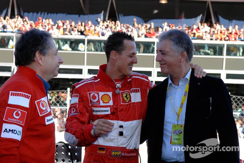 Jean Todt, Michael Schumacher et Piero Ferrari